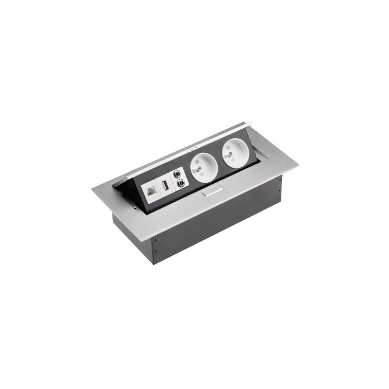 Przedłużacz biurkowy wejście USB wejście internet