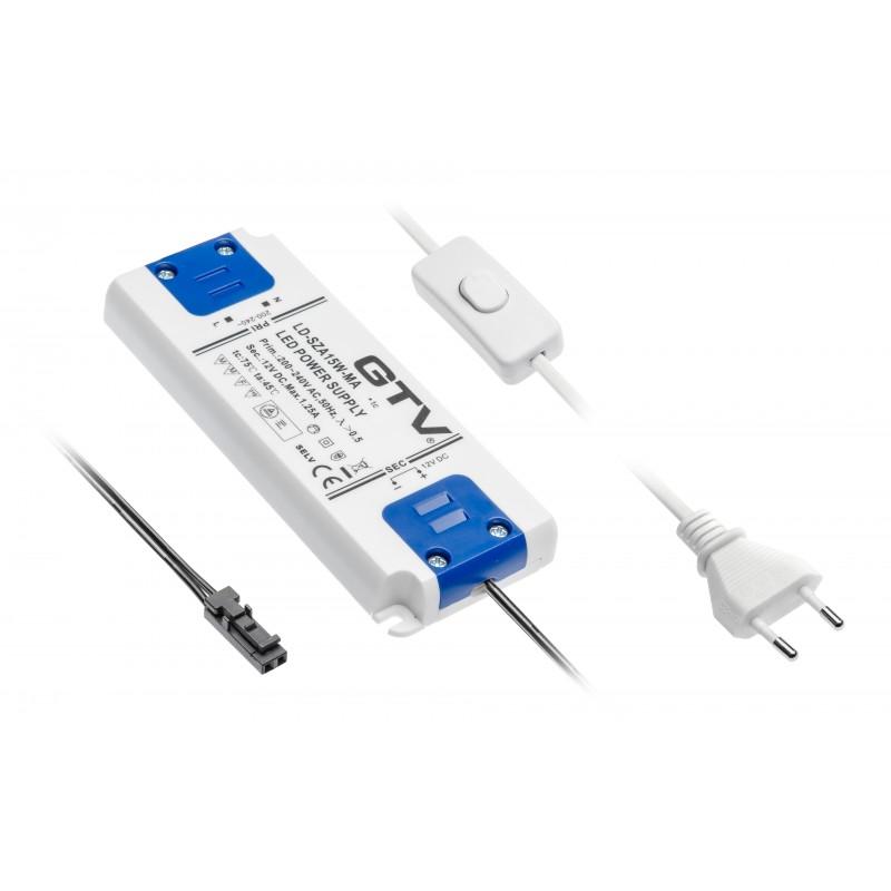 Zasilacz LED SLIM 13,5mm 15W DC12V