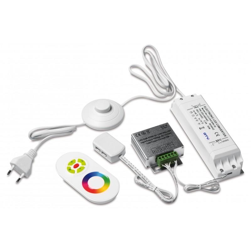 LED zestaw RGB - zasilacz 30W, kontroler radiowy