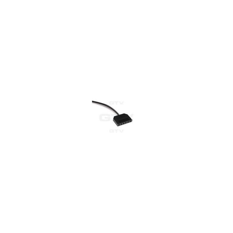 Rozdzielacz 6 gniazd 2 m kbel złącze MINI AMP