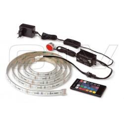 LED zestaw 2m RGB, zasilacz, kontroler, pilot