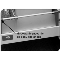 Modern box mocowanie przednie do boku szklanego
