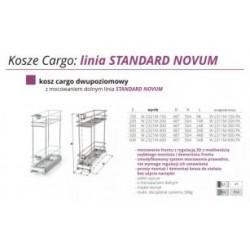Cargo mini dwupoziomowe z regulacją frontu 3D