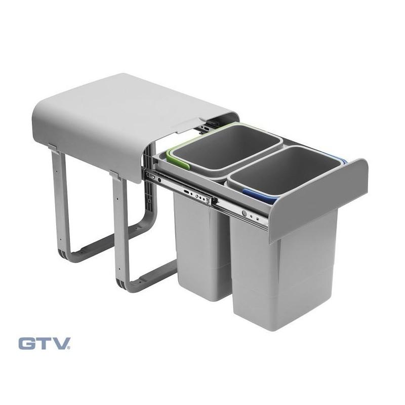 Kosz na śmieci/segregator TIRA 2x8L